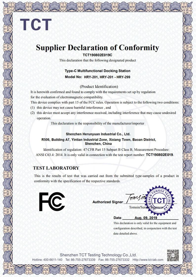FCC for Multifunctional USB C Hub