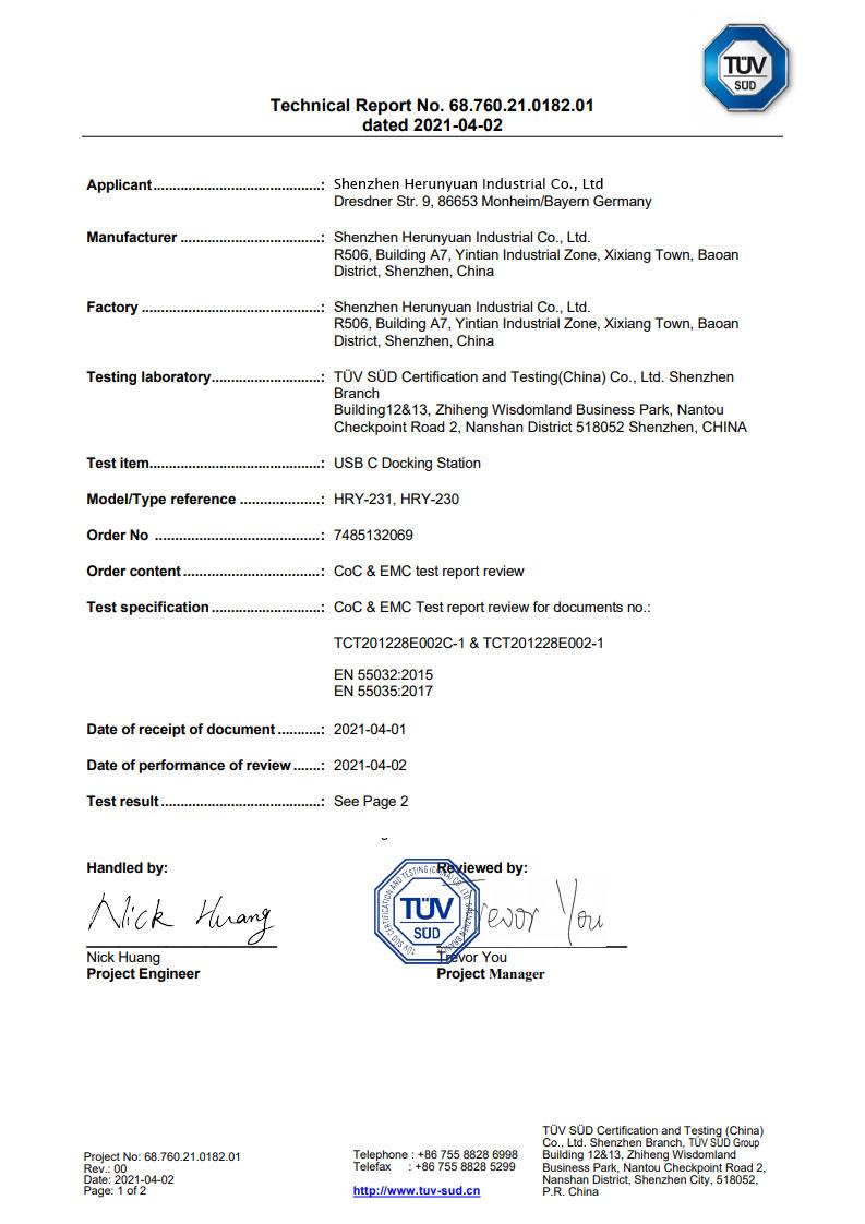 COC Certificate